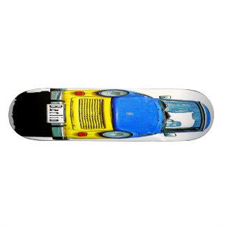 Trabant Car Front, Blue & Yellow,  Berlin Custom Skateboard