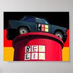 Trabant Car & German Flag,  Berlin Posters