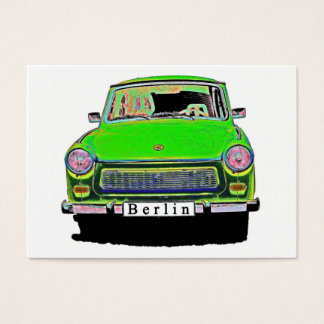 Trabant Car in Green, Berlin Business Card
