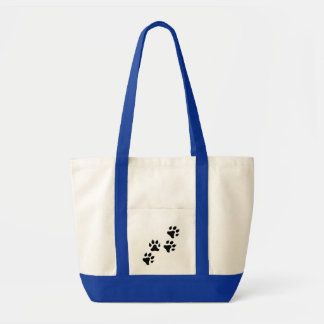 traces on snow tote bag