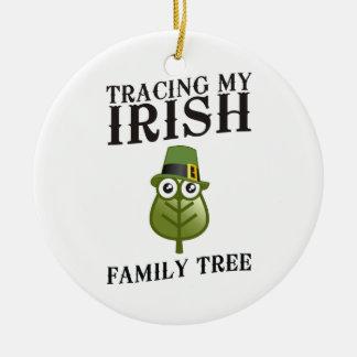 Tracing My Irish Family Tree Christmas Ornament