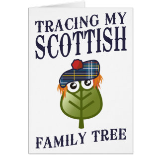 Tracing My Scottish Family Tree Card