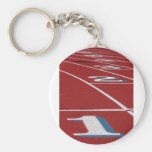 Track And Field Basic Round Button Key Ring