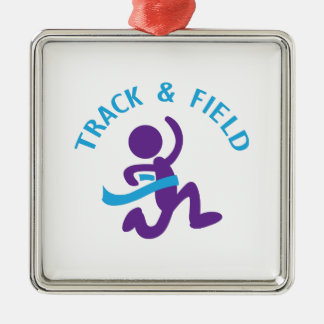 TRACK AND FIELD CHRISTMAS ORNAMENT