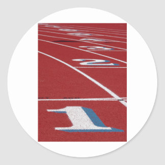 Track And Field Classic Round Sticker