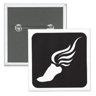 Track and Field Icon 15 Cm Square Badge