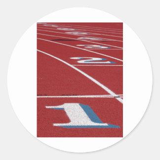 Track And Field Round Sticker