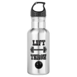 Track and Field Shot Put Throw Water Bottle