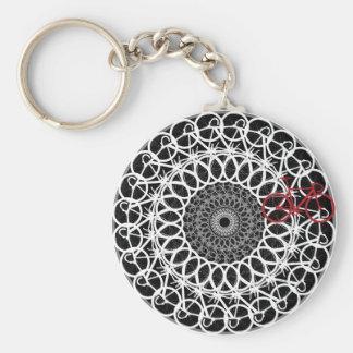 Track Bicycle Mandala Key Ring