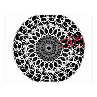 Track Bicycle Mandala Postcard
