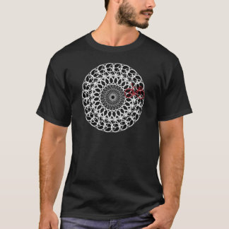 Track Bicycle Mandala T-Shirt
