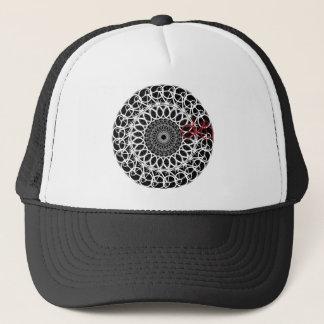 Track Bicycle Mandala Trucker Hat