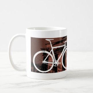 Track Bike Berlin Bronze Basic White Mug
