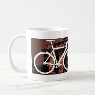 Track Bike Berlin Bronze Classic White Coffee Mug