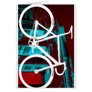 Track Bike Berlin - red blue Card
