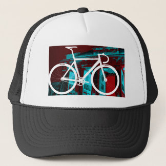 Track Bike Berlin - red blue Trucker Hat
