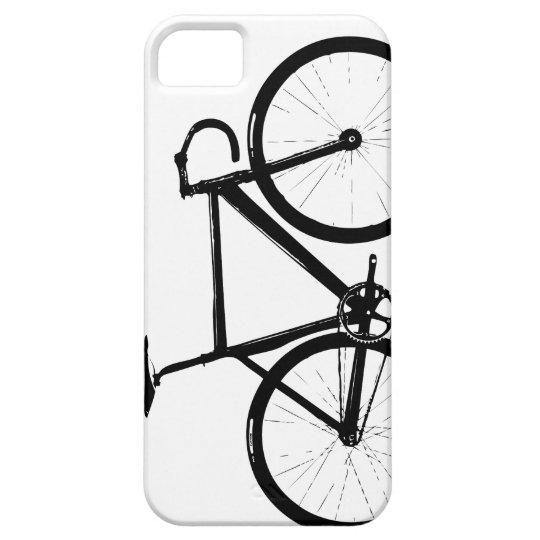 Track Bike - black on white iPhone 5 Covers