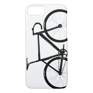 Track Bike - black on white iPhone 8/7 Case