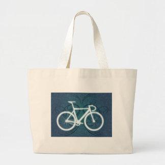 Track Bike - blue tattoo style Jumbo Tote Bag