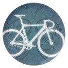 Track Bike - blue tattoo style Plate