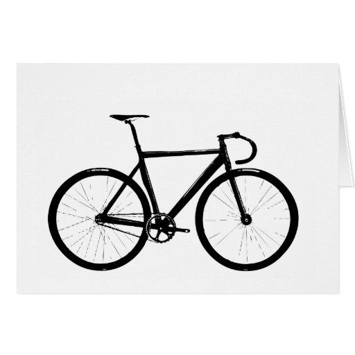 Track Bike Greeting Cards