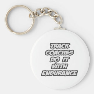 Track Coaches Do It With Endurance Basic Round Button Key Ring