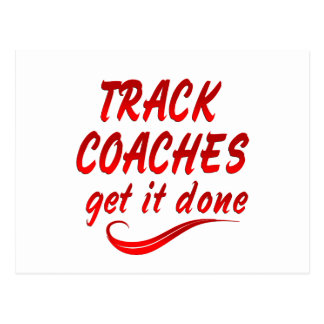 Track Coaches Get It Done Postcard