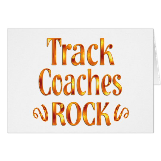 Track Coaches Rock Card