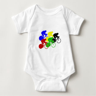 Track Cycling Bicycle Race Bike Riders   Baby Bodysuit