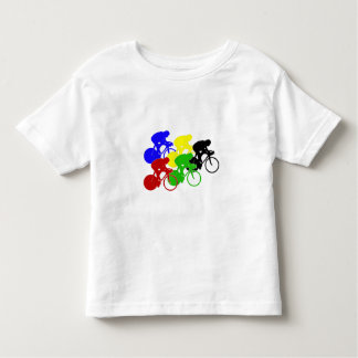 Track Cycling Bicycle Race Bike Riders   Toddler T-Shirt