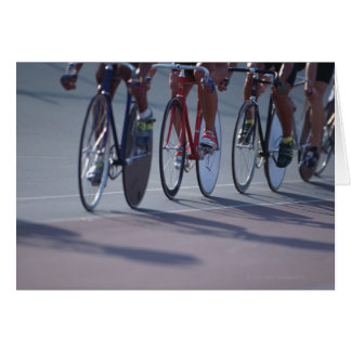 Track cycling cards