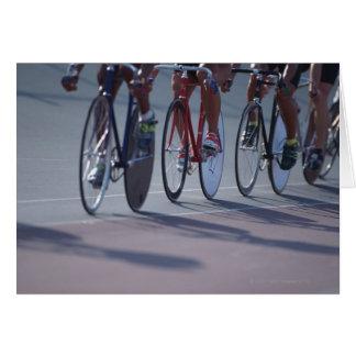 Track cycling greeting card