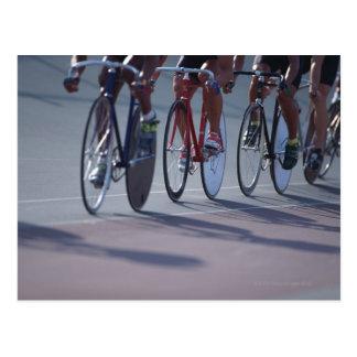 Track cycling postcard