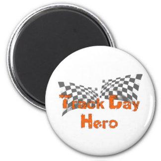 Track Day Hero 6 Cm Round Magnet