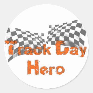 Track Day Hero Round Sticker