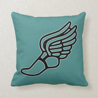 Track & Field Hermes Winged Foot Custom Color Throw Pillow