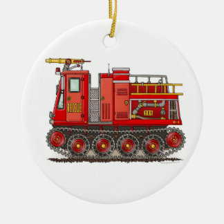 Track Fire Truck Ornament