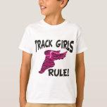 TRACK GIRLS BLACK ON HOT PINK T SHIRT