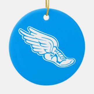 Track Logo Ornament w/name Blue