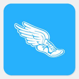 Track Logo Sticker Blue