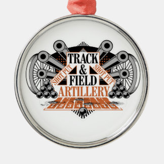 track n field artillery christmas ornament