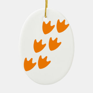 Track of Duck's Feet Christmas Ornament
