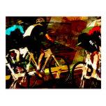 Track Racing Postcard