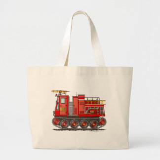 Track Rescue Pumper Fire Truck Firefighter Large Tote Bag