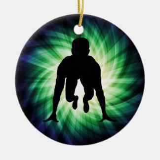 Track Sprinter Christmas Ornament