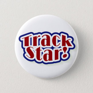 Track Star 6 Cm Round Badge