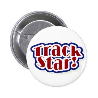 Track Star 6 Cm Round Badge