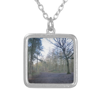 Track Through Delaware Forest in Cheshire Custom Necklace