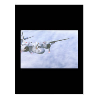 Tracker. (tracker;clouds;airplane_Military Aircraf Postcard