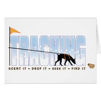Tracking, Doberman Greeting Cards